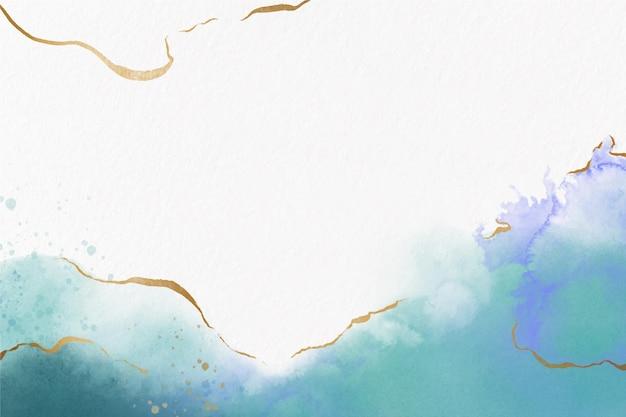 Tapeta akwarelowa ze złotą folią