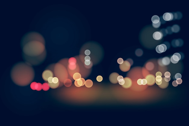 Tapeta efekt bokeh świateł