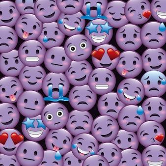 Tapeta emotikonów fioletowy uśmiech