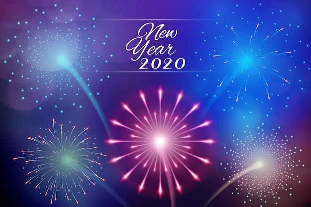 Tapeta fajerwerków nowy rok 2020