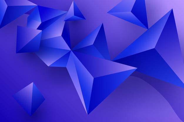 Tapeta fioletowe trójkąty 3d