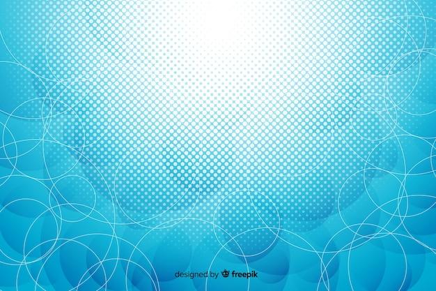Tapeta jasne abstrakcyjne kształty geometryczne