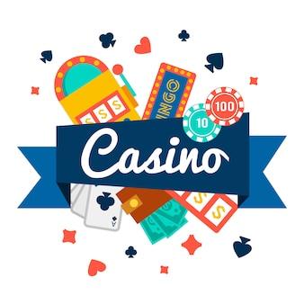 Tapeta kasynowa z elementami pokera