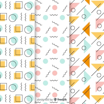 Tapeta kolekcja wzorów memphis