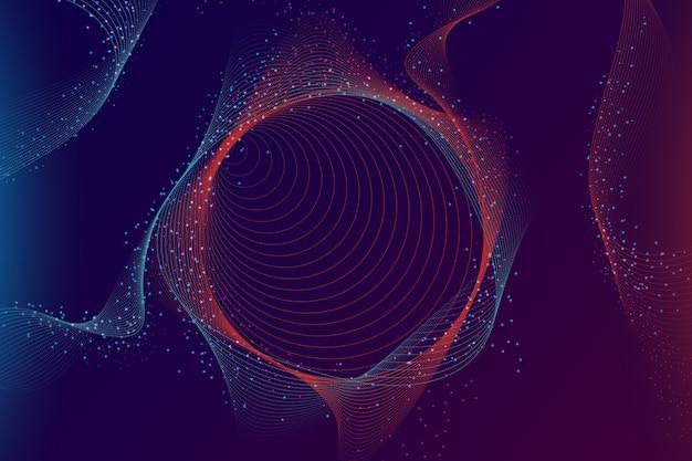 Tapeta kolorowe cząsteczki gradientu