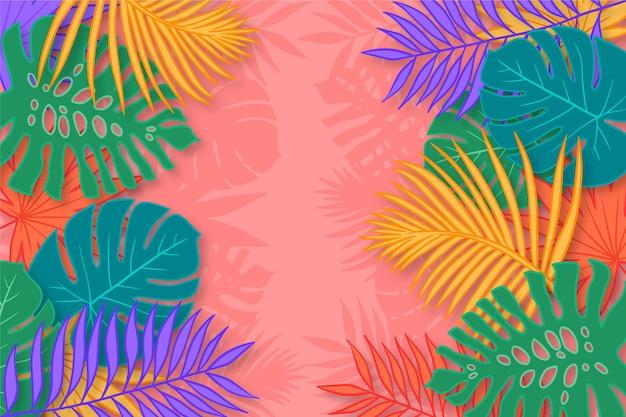 Tapeta kolorowe sylwetki drzewa palmowego