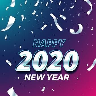 Tapeta konfetti nowego roku 2020