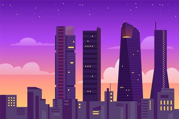 Tapeta przedstawiająca punkty orientacyjne miasta do wideokonferencji
