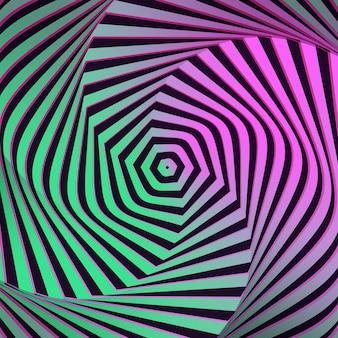 Tapeta psychodeliczna złudzenie optyczne