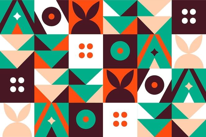 Tapeta ścienna z geometrycznym wzorem