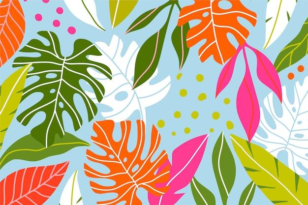 Tapeta tropikalnych liści