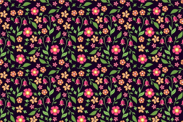 Tapeta w kwiatowy wzór ditsy