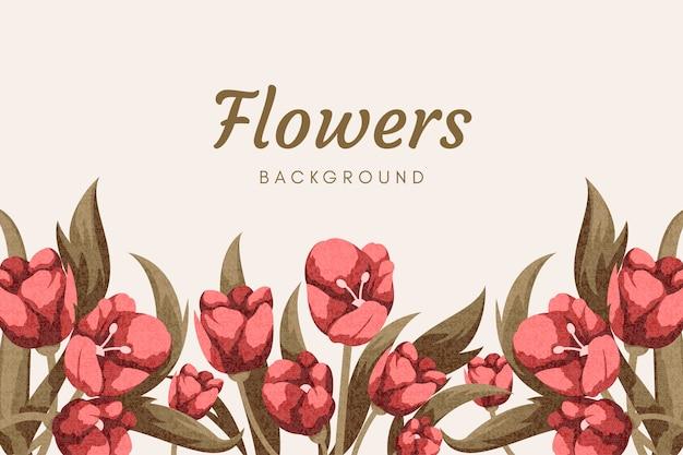 Tapeta w stylu vintage kwiaty