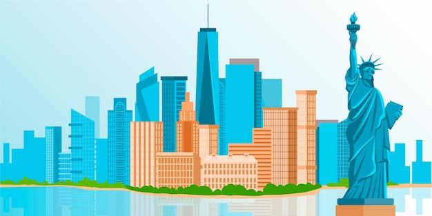 Tapeta z charakterystycznymi elementami miasta do wideokonferencji