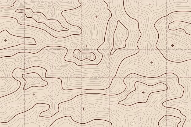 Tapeta z koncepcją mapy topograficznej