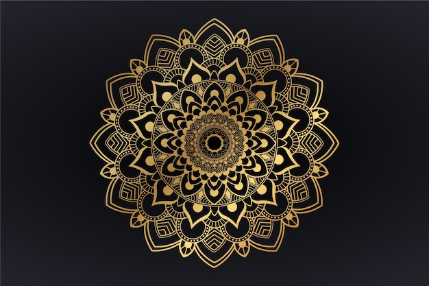 Tapeta z luksusowym motywem mandali