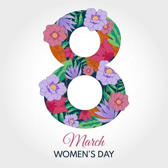 Tapeta z motywem kwiatowym na dzień kobiet