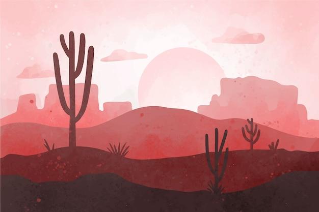 Tapeta z pustynnym krajobrazem do wideokonferencji