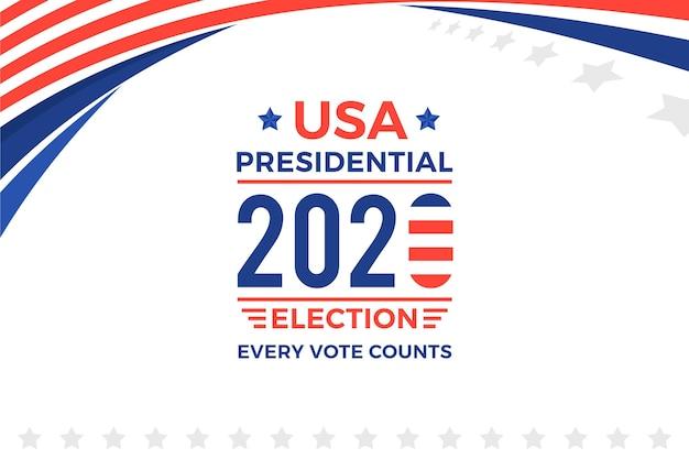 Tapeta z wyborami prezydenckimi 2020 w usa