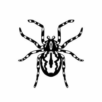 Tarantula logo symbol wzornik projekt tatuaż wektor ilustracja