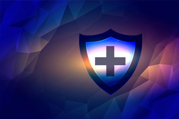 Tarcza medyczna do ochrony przed zarazkami i wirusami