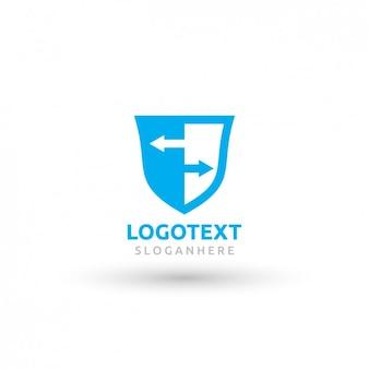 Tarcza niebieskie logo