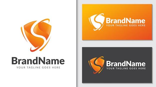 Tarcza ochrona koncepcja logo icontemplate