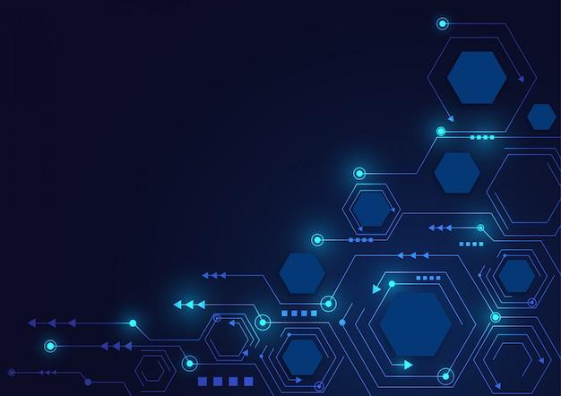 Tarcza ochrony danych online i abstrakcyjne z technologią komputerową