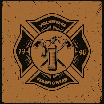 Tarcza strażaka ochotnika