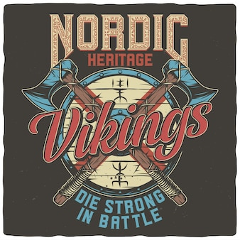 Tarcza wikingów i topory