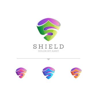 Tarcza z szablonem logo pierwsza litera s