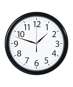 Tarcza zegara na białym tle