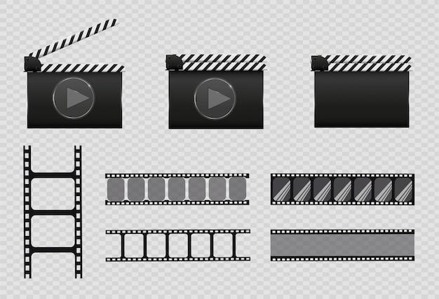 Taśma filmowa, ilustracja. zestaw