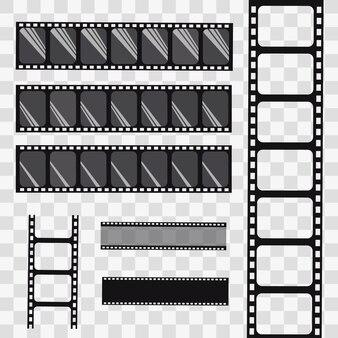Taśma filmowa. zestaw