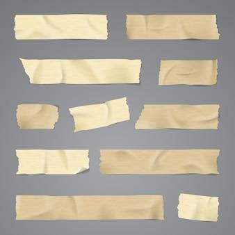 Taśma klejąca z cienia na białym tle realistyczne ilustracji wektorowych