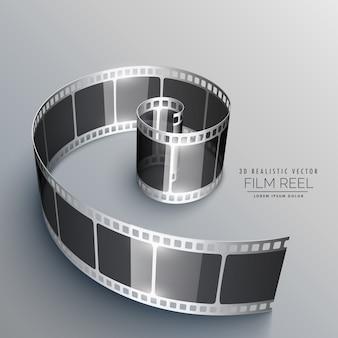 Taśmy filmowej w 3d stylu
