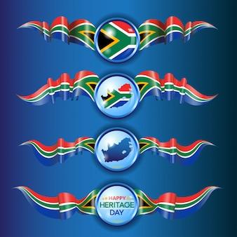 Taśmy z flagą republiki południowej afryki
