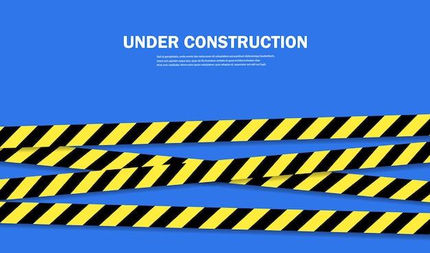 Taśmy z ograniczeniami i strefami niebezpiecznymi. ilustracja