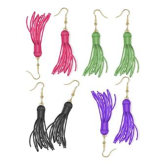 Tassel, bright kolczyki w kolorze fioletowym