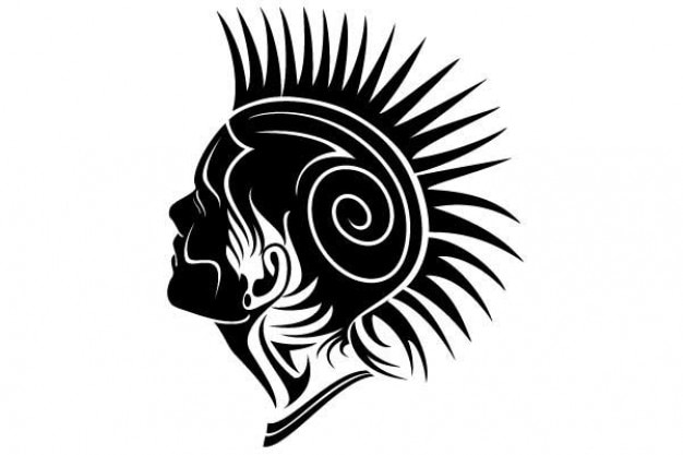 Tattoo vector twarzy