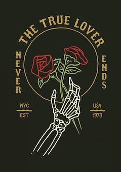 Tatuaż z różami czaszki