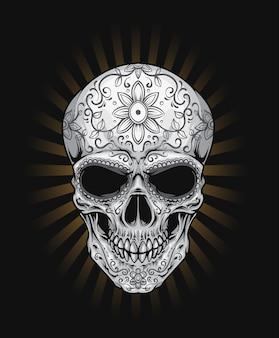 Tatuaż czaszki cukru