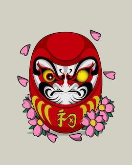 Tatuaż daruma po japońsku