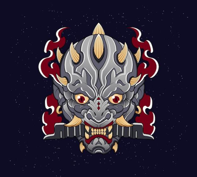 Tatuaż demonicznego wojownika