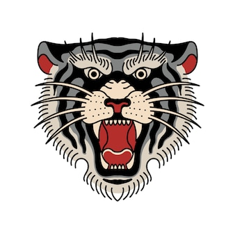 Tatuaż głowy tygrysa