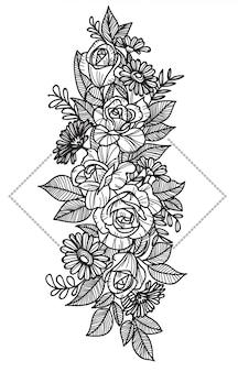 Tatuaż kwiatowy