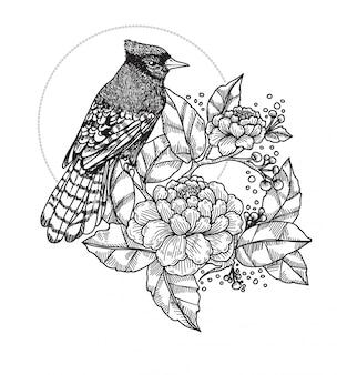 Tatuaż ptaka