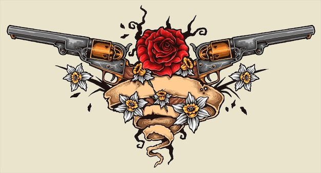 Tatuaż revolver