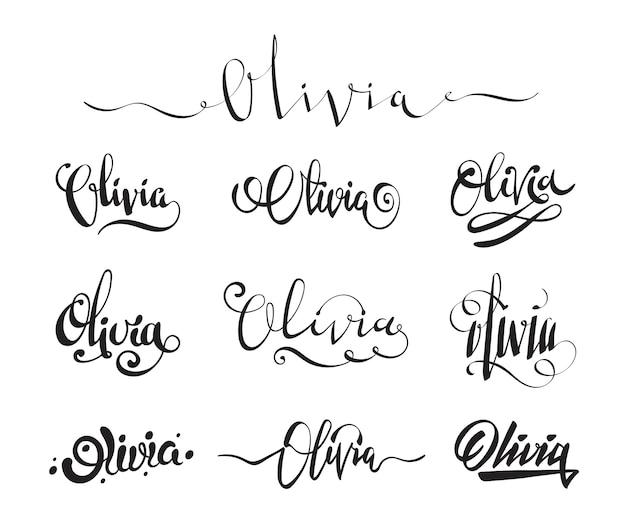 Tatuaż z imieniem i nazwiskiem olivia