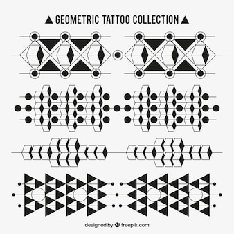Tatuaże zestaw geometrycznych kształtów